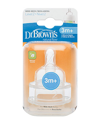 Dr Brown'S Options Level 2 Teats- 2 Pack