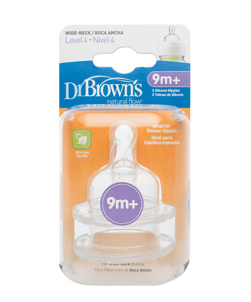 Dr Brown's Options Level 4 9m+ Teats - 2 Pack