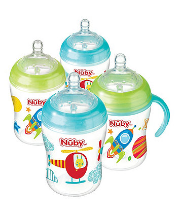 Nuby Natural Touch 270ml Bottles - 4 Pack