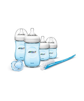 Philips Avent Natural Newborn Starter Set - Blue *Exclusive To Mothercare*