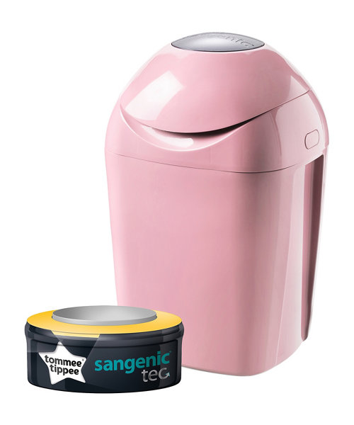 Tommee Tippee Sangenic Tec Nappy Disposal Bin - Pink