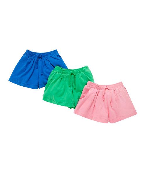 Plain Shorts - 3 Pack