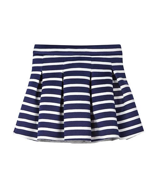 Striped Scuba Skirt