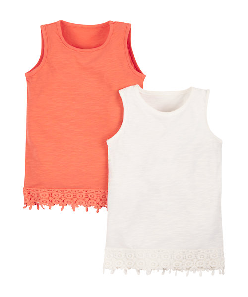 Crochet Trim Vests - 2 Pack