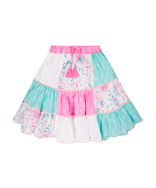 Tiered Patchwork Skirt