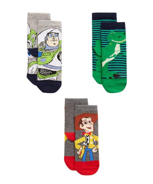 Disney Pixar Toy Story Socks - 3 Pack