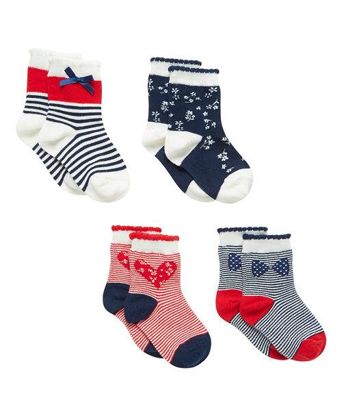 Nautical Socks - 4 Pack