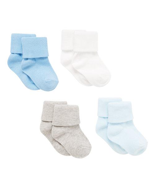 Tot Blue Socks - 4 pack