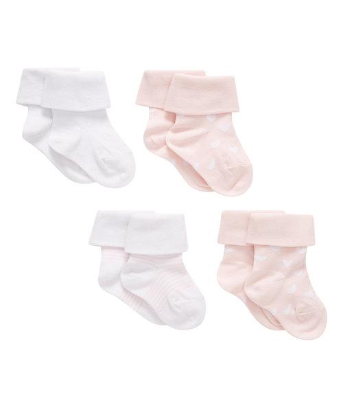 Tot Pink Socks - 4 pack