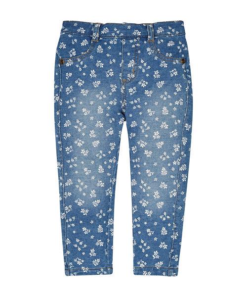 Floral Denim Jeans