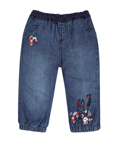 Mothercare Girls Blue Narrow Jogger Jeans