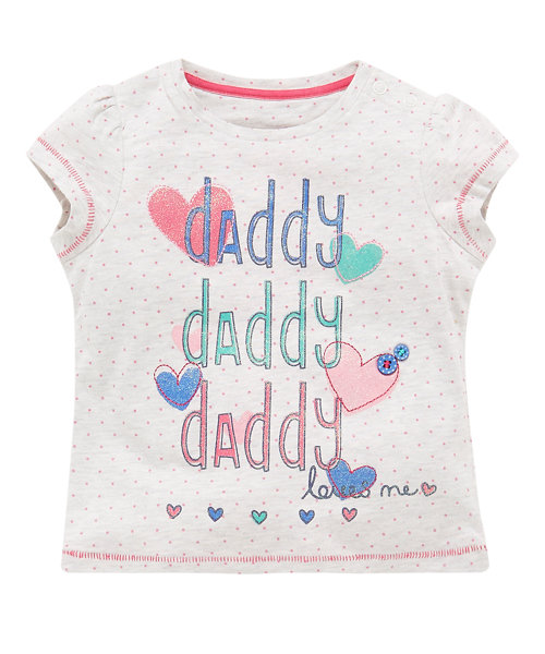Daddy Loves Me Slogan T-Shirt
