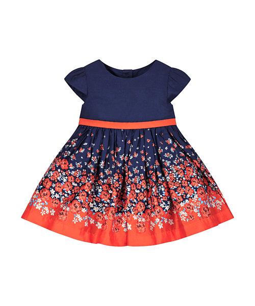 Floral Boarder Print Dress