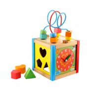 Early Learning Centre Baby Safari Small Wooden Activity Cube