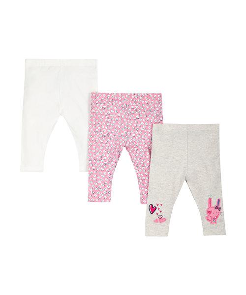 Grey & Pink Bunny Legging
