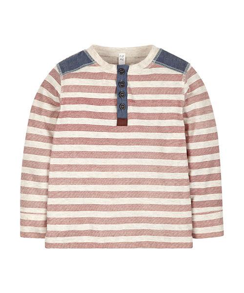 Stripy Chambray T-Shirt
