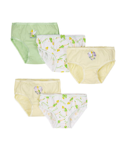 Disney Tinker Bell Briefs - 5 Pack