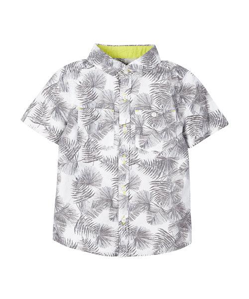 Tropical Leaf Print Shirt