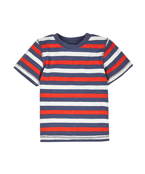 Multi Stripe Slub T-Shirt