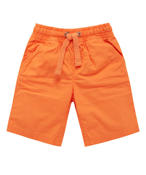Colour Block Orange Poplin Shorts