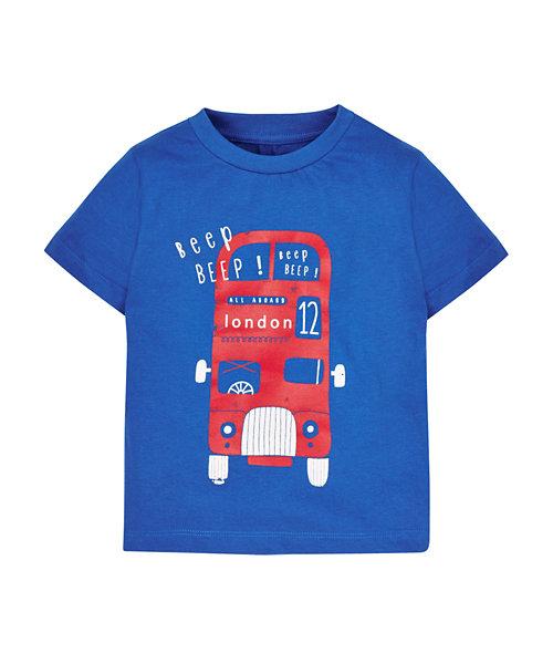 Colour block Blue Bus T-shirt