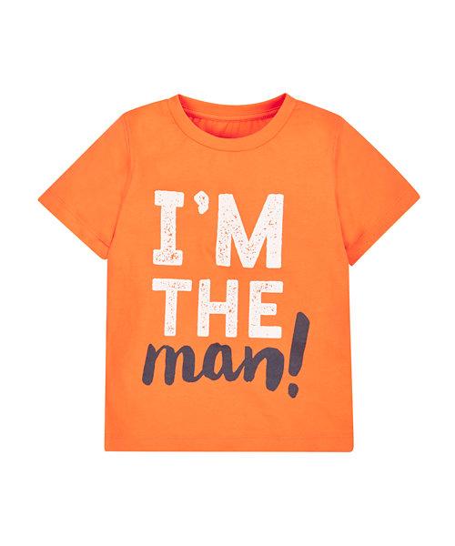 Orange Printed T-Shirt
