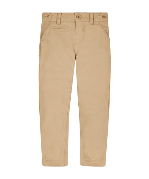 Beige Slim Fit Chino Trousers