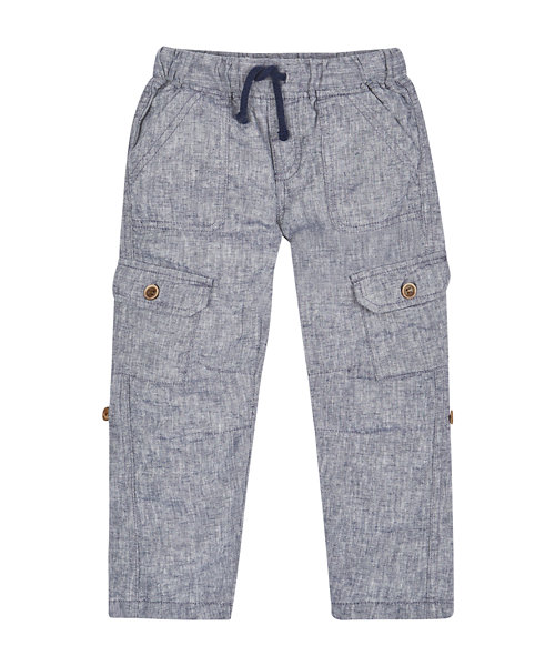 Grey Roll Up Trousers