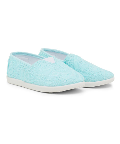 Blue Canvas Shoes