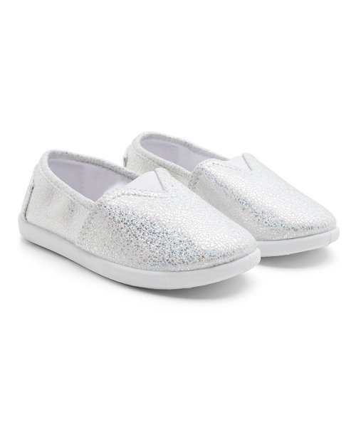 Silver Canvas Shoes