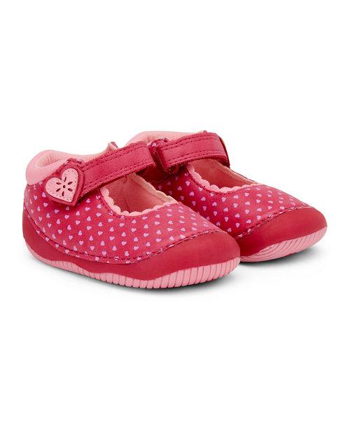 Heart Print Crawler Shoe