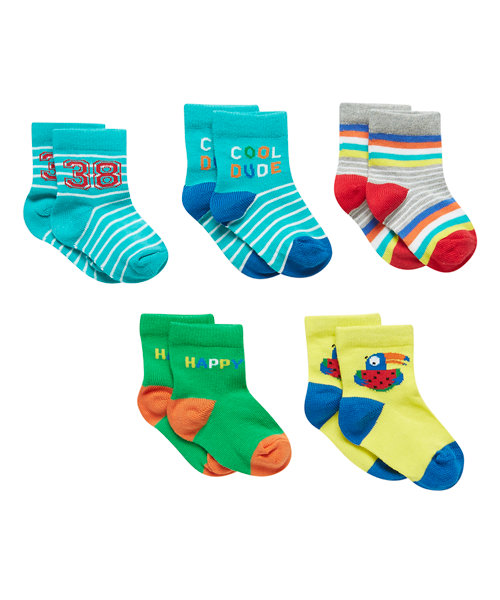 Rio Socks Print - 5 Pack