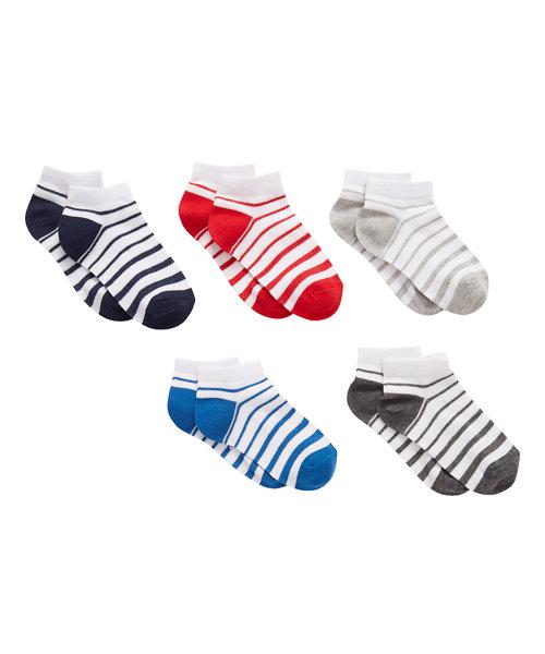 Stripe Trainer Socks - 5 Pack