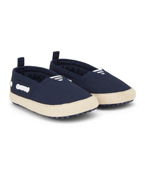 Navy Boat Shoe Espadrille