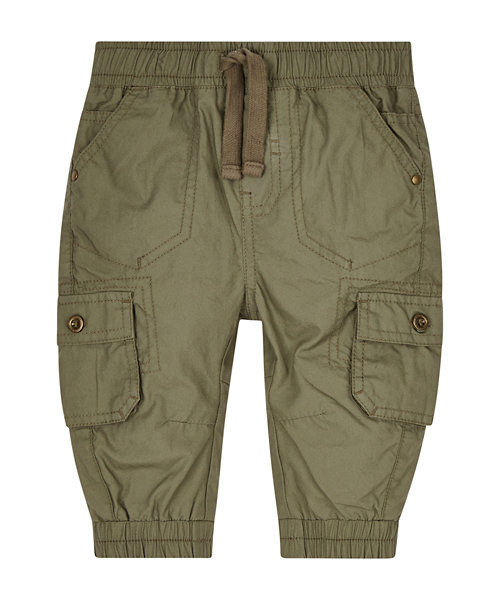 Khaki Jersey Lined Cargo Trousers