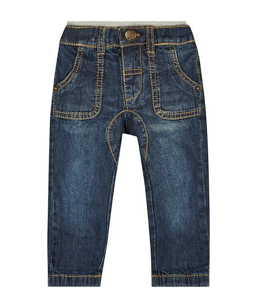 Dark Wash Fashion Jersey Lined Jeans