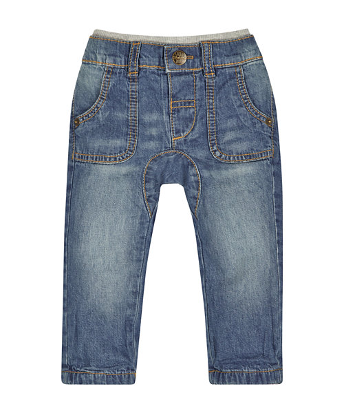 Light Wash Jersey Lined Jeans