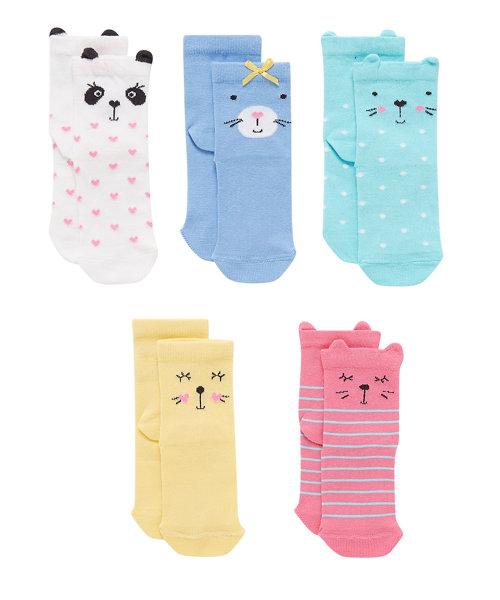 Novelty Animal Socks - 5 Pack