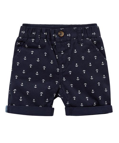 Ribwaist Navy Chino Anchor Shorts