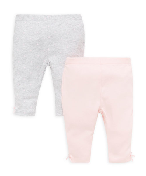 Pink and Grey Marl Leggings - 2 Pack