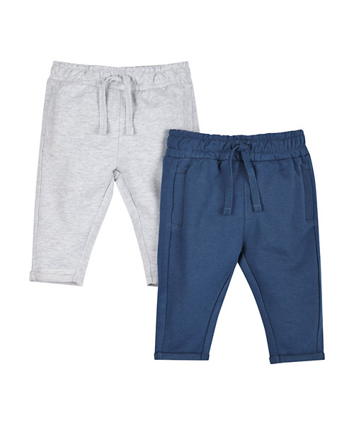 Grey Marl and Navy Joggers - 2 Pack