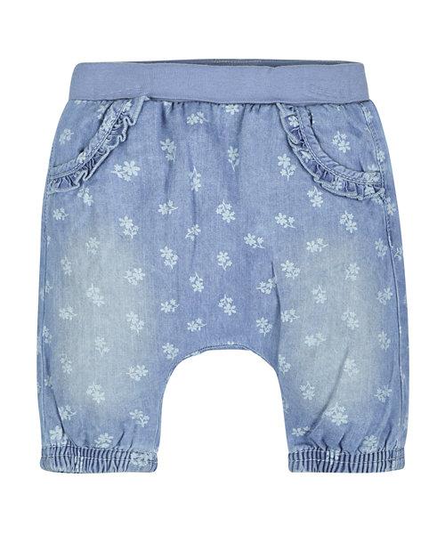 Floral Denim Trousers