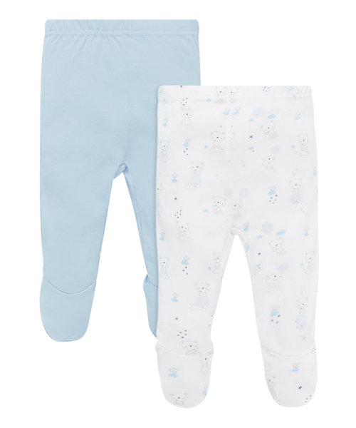 My First Bear Leggings with Feet - 2 Pack