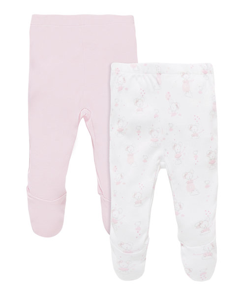 Legging With Feet All Over Printed And Pink