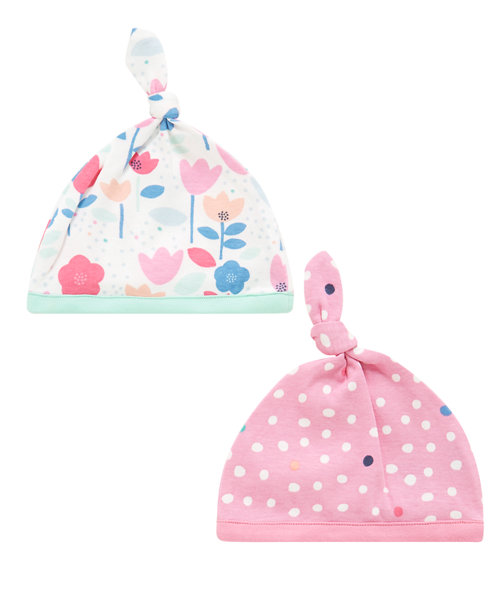 Floral and Spotty Hats - 2 Pack
