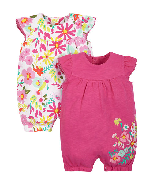 Tropical Rompers - 2 Pack
