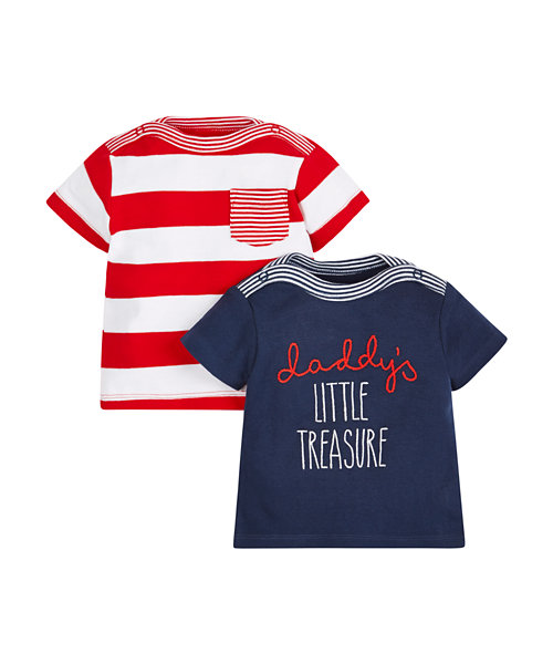 Graphic and Stripe T-Shirts - 2 Pack