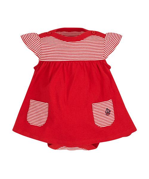 Stripy Romper Dress