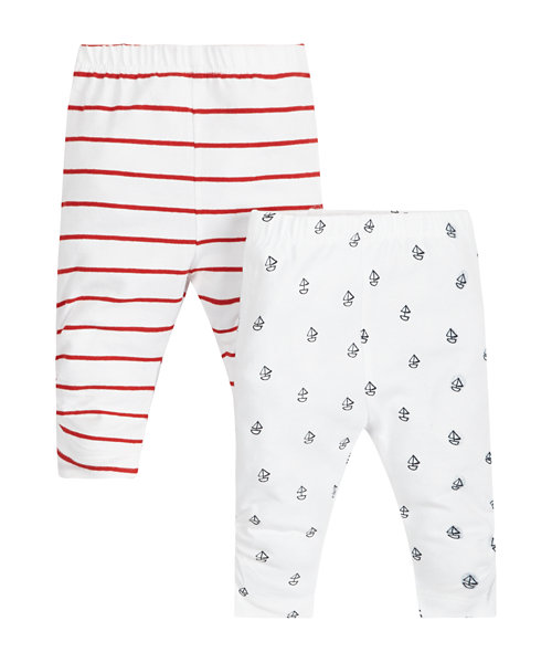 Striped and Boat Print Leggings - 2 Pack (Last Size: up to 1 mth)