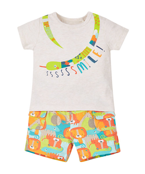 Jumgle Pals Snake T-shirt and Shorts Set